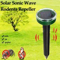 ingrosso apparecchiature ad ultrasuoni-Mole repellente Solar Power Ultrasuoni Mole Snake Bird Mosquito Mouse Ultrasuoni Repeller Pest Control Garden Garden Equipment