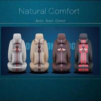 ingrosso coprisedili-Natural Car Seat Cover Set Leather Car Mat Four Season Tutti Clusive arte del panno di Accessori auto interni confortevoli HHA111