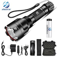 Wholesale night hunting flashlights resale online - Super bright LED Flashlight lighting modes Led Torch for Night Riding Camping Hiking Hunting Indoor Activities Use