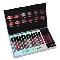 Wholesale light purple lipstick resale online - DA BEAUTY NEW color makeup beauty regular Lip Matte Lipstick Red Long lasting non marking lip glaze