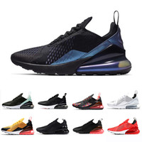 siyah erkekler spor koşu ayakkabıları toptan satış-nike AIR MAX 270 SHOES airmax maxes 270s Triple Black white Tiger Running Shoes olive Training Outdoor Sports air sole cushion Mens Trainers Zapatos Sneakers