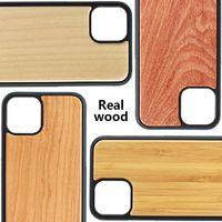 iphone silikon holz fall großhandel-Bambus Handgemachtes für iPhone 11 Pro Holz + Silikon-Kasten hölzerne Abdeckung für iphone XS MAX 8.7 Plus-Samsung Galaxy S9 S10 Plus-Fall