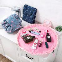 organizadores de caixas de ferramentas venda por atacado-Mulheres Magia Com Cordão Saco de Cosméticos Organizador de Viagem Preguiçoso Maquiagem Casos de Beleza Maquiagem Bolsa Kit de Higiene Pessoal Ferramentas de Lavar Caixa De Armazenamento