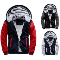 plus größe hoodies strickjacken großhandel-HEFLASHOR Männer Hoodies Sweatshirts Winter Warm Fleece Plus Size Hoodies Jacke Parkas Lässige Streetwear Strickjacke Mantel Teenager T190906