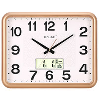 Wholesale chinese square art resale online - Simple Wall Clock Living Room Silent Quartz Square Wall Clock Kitchen Minimalist Art Orologio Cucina Garden Home Decor XX60WC