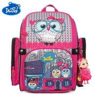 Wholesale orthopedic school bags for sale - Group buy School Delune Brand Orthopedic Bags for Children Girls Cat Print D Animal Kids Cartoon Backpack Mochila Infantil Grade