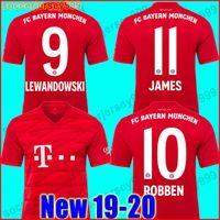 0b0096de5 Thailand Bayern Munich Soccer jersey JAMES RODRIGUEZ 2019 2020 LEWANDOWSKI  MULLER KIMMICH 19 20 HUMMELS Football shirt Champions league