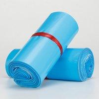mavi poli çanta toptan satış-100 Adet Daha boyutu mavi Poly Mailer Zarflar Nakliye Çanta Kendinden Yapışkanlı, Su Geçirmez ve Yırtılmaz Posta Çantaları