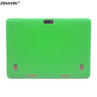 tablet pc verde al por mayor-10.1 Tablet PC Android 7.0 3G LTE Octa Core 4 GB RAM 32 GB ROM Dual SIM Tarjetas IPS GPS Funda de goma Tablet PC + Verde