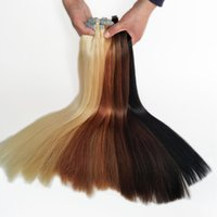 Wholesale pure remy blue hair resale online - Tape In Hair Extensions Skin Weft Tape Remy Hair Extensions pieces g Colors Optional Blue Double sided Tape Cheap