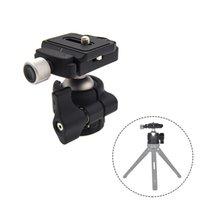 çabuk serbest bırakma montaj plakası toptan satış-Alüminyum Kamera Tripod Top Kafa Rocker 1/4 inç Vida Dağı DSLR Zoom Lens LCC77 için Quick Release Plate