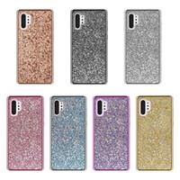 elmas taş bling cep telefonu durumlarda toptan satış-Iphone XS Max XR Samsung Galaxy Not için 10 S10 Artı S10e Bling Elmas Glitter Lüks Kılıfları Parlak Rhinestone Prim Cep Telefonu Kapakları