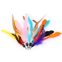 палочка для перьев оптовых-MEIBY Replacement Refill Feather Kitten Toy Wand Teaser Pole Random Color