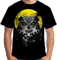 ingrosso fienili liberi-Harajuku New 2019 Velocitee Mens T Shirt Night Owl Bird Moonlight Hunter Tewny Barn Cotton Tees Spedizione gratuita