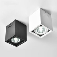 plafones doble cabeza al por mayor-COB moderna Lámparas de techo giratorio del punto de luz luces de techo de montaje en superficie de Iluminación en Escaparate accesorios de sala de estar