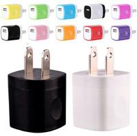 x mini cargador al por mayor-AC cargador de la pared del recorrido del hogar del cargador del adaptador mini cargador USB NOKOKO 12 colores USB de 5V 1A de EE.UU. para Samsung Iphone 7 8 x smartphones mp3 pc
