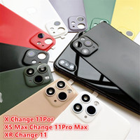 Wholesale For iPhone X XS Seconds Change PRO MAX Lens Sticker Back Protector Film Modified Camera Cover Titanium Alloy Case NEW
