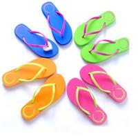 Wholesale girls slipper for home resale online - Girls Pink Flip Flops Summer Love Flip Flops Beach Pools Slippers Shoes For Women Casual PVC Home Bath Sandals HH7