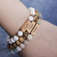 weißgold armband graviert großhandel-Gehämmerte Bar Armband graviert