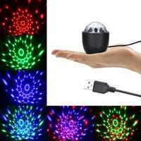sahne ışık dekorasyon evi toptan satış-Mini Sihirli Top Sahne Işık LED USB Powered Desteklenen Ses Aktif Sahne Işık Ev Partisi Dekorasyon Festivali Tatil için