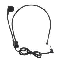 micrófonos para la enseñanza al por mayor-Universal portátil 3.5 mm Mini auricular capacitivo micrófono rotatorio para la enseñanza de la conferencia / computadora / teléfono móvil PMP_515