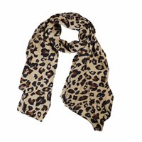 Wholesale vintage chiffon scarves for sale - Group buy Winfox Vintage Leopard Animal Print Winter Scarf Women Chiffon Shawls and Wraps For Ladies Female