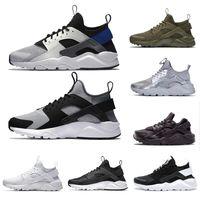 huarache kırmızı beyaz toptan satış-Nike Air huarache IV 4.0 IV erkekler koşu ayakkabı üçlü siyah beyaz kırmızı moda huaraches 1.0 erkek eğitmenler kadın spor sneaker 36-45