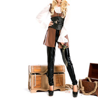 Wholesale pirates costumes for women for sale - Group buy New Female Pirate Costume Halloween Party Costume Ball Dress Suit Stage Costume Fashion Pirate Game Uniform for Women Clothes