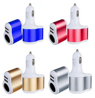 Wholesale one way cars for sale - Group buy Universal Car Charger Dual Usb Ports One Way Car Cigarette Lighter Power Socket For Samsung s6 s8 s10 note htc android phone gps