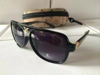 ünlü güneş gözlüğü erkekleri toptan satış-Sıcak 2019 Yeni Moda Vintage Sürüş Güneş Erkekler Açık Spor Tasarımcısı Lüks ünlü Erkek Güneş Gözlüğü Güneş Gözlükleri Kılıfları Ve Kutusu Ile Ray