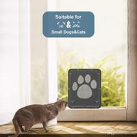 janelas de portas de construção venda por atacado-Porta de tela Com Porta Para Animais de Estimação Porta Magnética Fechadura Automática Magnética Para Cão Pequeno Tela de Janela Portão Cat Dog Flap Safe Pet Supplies