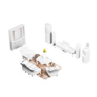 conjuntos de mobiliário para sala de estar venda por atacado-1:25 Casa De Bonecas Em Miniatura Mobiliário De Sala De Estar Branco Conjunto De Móveis Europeus Crianças Presente Simulação Play House