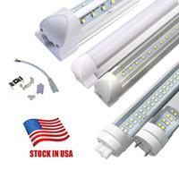 usa 4ft led-röhren großhandel-Lagerbestand In USA + 4 Fuß LED-Röhren SMD2835 4ft T8 G13 V-Muster YT Single Pin LED-Röhrenleuchten LED-Leuchtstoffröhrenlampen 85-265V