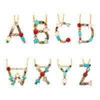chokers de ouro de 14k venda por atacado-A-Z Cartas Novos Produtos 2019 14 K Banhado A Ouro Iniciais Charme Colar de Jóias Moda Cristal Gargantilha Colar Colar de Pingente de Alfabeto