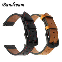 Wholesale charm belt watch resale online - Italy Genuine Calf Leather Watchband For Samsung Gear S3 Galaxy Watch mm Quick Release Band Stainless Steel Buckle Strap Belt T190620