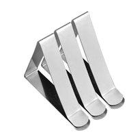 pano de mesa para festas venda por atacado-Clipe De Mesa De Aço inoxidável Clipe Triângulo Grande Calibre Clipe Toalha de Mesa Ajustável Tipo Braçadeira Fixa de Férias Eco Friendly 0 44xc L1