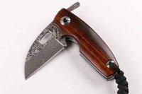 máquina de barbear micro venda por atacado-Damasco lâmina EDC faca de coleta tático micro lâmina 60HRC dureza elevada mini-auto-defesa dobráveis ferramenta de bolso dom homem Facas