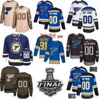 1e9c138c007 2019 Stanley Cup Custom Mens Women Youth St. Louis Blues 91 Vladimir  Tarasenko 27 Alex Pietrangelo 17 Jaden Schwartz hockey Jerseys S-3XL