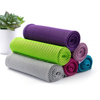 Wholesale green designer belt resale online - 1pcs Double Layer Ice Cooling Towel Cool Summer Cold Sport Towels Instant Cool Dry Scarf Soft Reusable Breathable ice Belt Towel