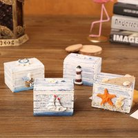 Wholesale jewelry tool storage for sale - Group buy Jewelry Display Wooden Case Ring Necklace Earring Storage Box Gifts Cute Sea Style Fashion sf UU