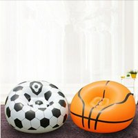 Wholesale football soft toys for sale - Group buy Flocking Inflation Football Basketball Sofa PVC Apartment Home Furnishing Settee Single Person Soft Sofa Air inflation toy CCA11691