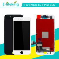 iphone renk parçaları toptan satış-Lcd ekran iphone 8 8 plus için dokunmatik ekran digitizer meclisi parçaları lcd değiştirme için iphone 8 8 p siyah beyaz renk