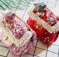 Wholesale sequin change purse resale online - Kids Mini Stars Sequin Lace Coin Bag Children Cute Single Shoulder Bag Kid Crossbody Small Coin Pouch Change Purse Candy