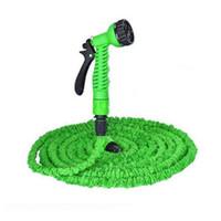 Wholesale hose for irrigation resale online - 25ft FT FT FT Magic Flexible Hose For Garden Car Expandable Garden Hose irrigation in Spray Gun Quick Connector