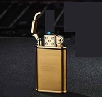 Wholesale butane windproof lighters for sale - Group buy Newest Drawing process lighter Cigarette Metal Butane Windproof Straight Jet Lighter NO Gas for Cigar kitchen Smoking tool