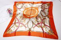 ingrosso sciarpe quadrate di seta imitazione-Sciarpa di seta da donna 2019 nuova imitazione di seta grande scialle professionale versatile sciarpa quadrata sciarpa 90x90cm