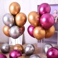 Wholesale metallic helium balloons resale online - 12inch Metallic Balloon Latex Helium Balloons Wedding Birthday Party Decoration Balloons Balloon Party Supplies