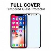 filtros de iphone al por mayor-Para iPhone 11 Pro Privacy Screen Protector X iPhone iPhone XS anti espía protector de la pantalla de cobertura total de luz azul Filtro de ojos