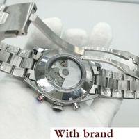 наручные часы калибра 16 оптовых-мужские наручные часы 44 мм размера CAL 1887 автоматические часы с плавным ходом с черным лицом Часы из нержавеющей стали с корпусом Caliber 16