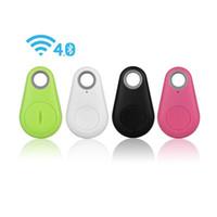 etiquetas inalámbricas al por mayor-Micro Smart Finder Inteligente Inalámbrico Bluetooth 4.0 Tracer Localizador GPS Etiqueta de seguimiento Alarma Monedero Clave Niño Mascota Perro Rastreador 1 piezas ePacket